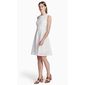 Calvin Klein White Eyelet A Line Dress